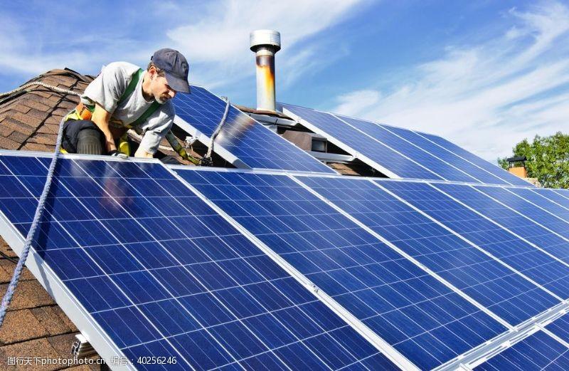 电力太阳能发电板图片