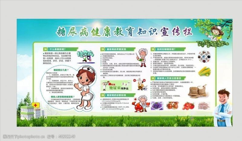 护士糖尿病海报图片