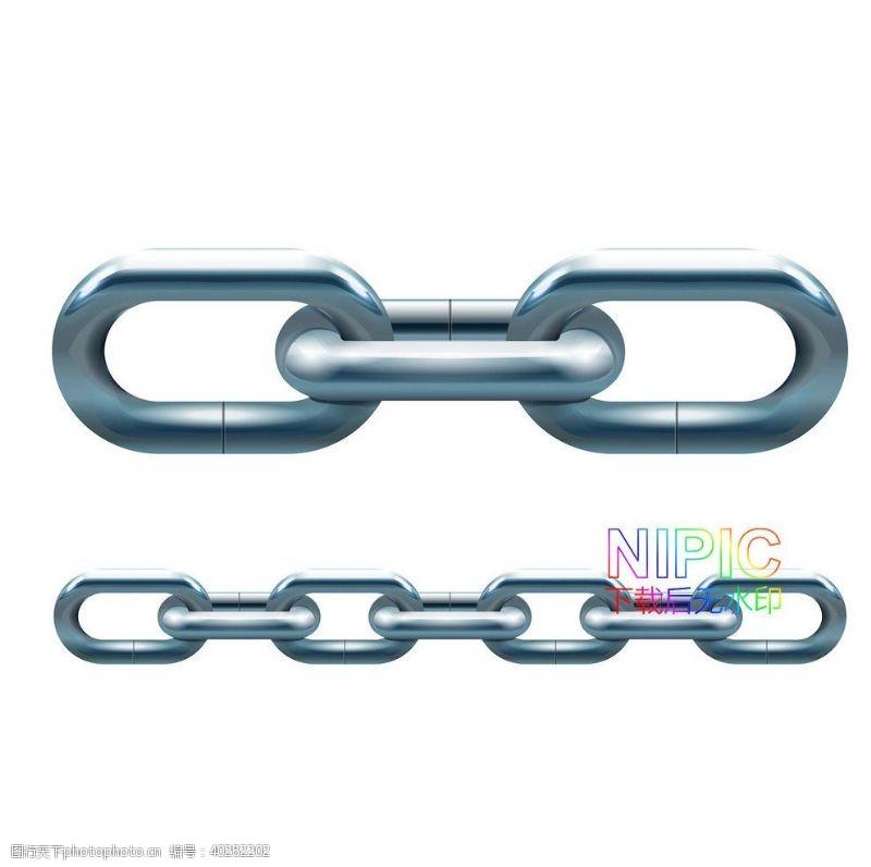 素材下载铁链链条链接项链eps图片