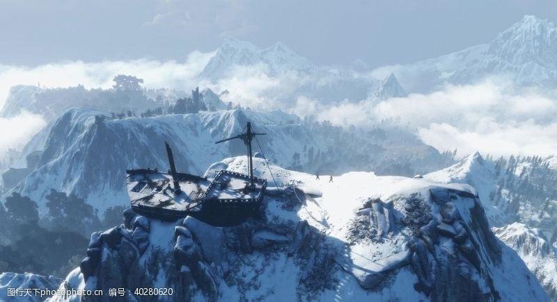 动作巫师3游戏风景图片
