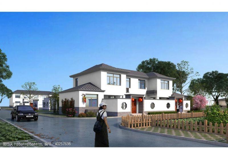 3d作品新农村住宅图片