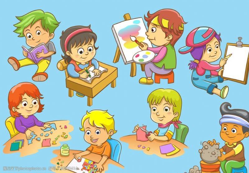 孩子学习的儿童图片