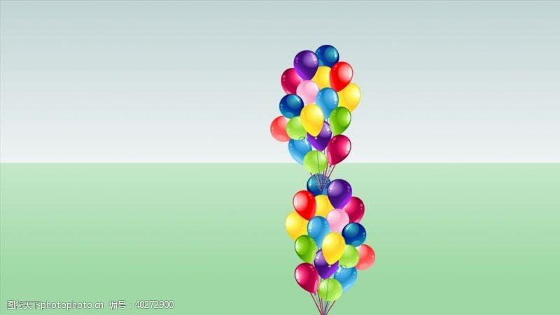 大师一大串彩色气球SU模型图片