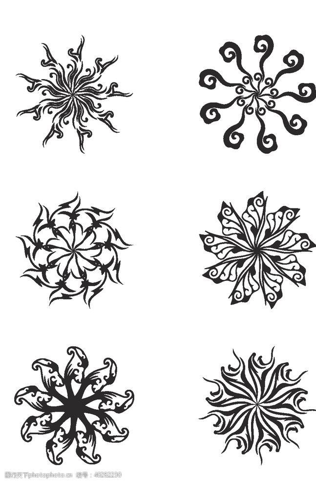 花纹花边圆形复古花纹图片