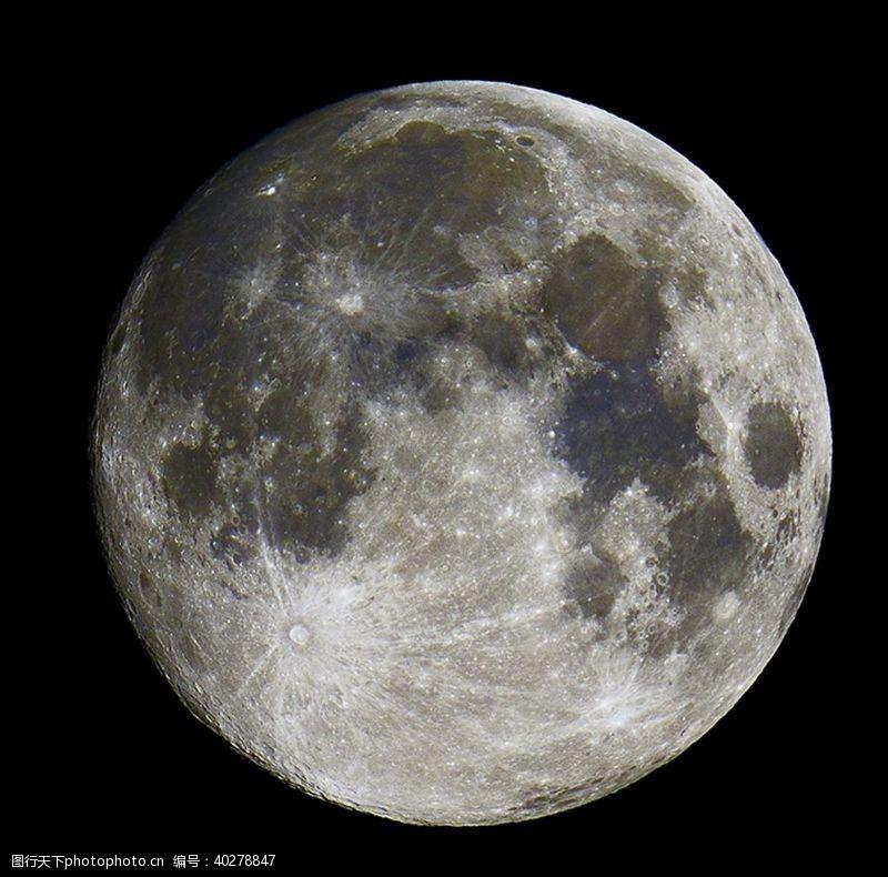 发光月亮图片