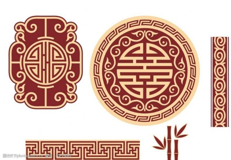 竹子中式花纹图片