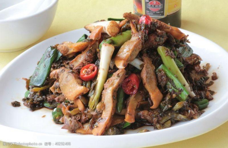 周庄咸菜蚌肉图片