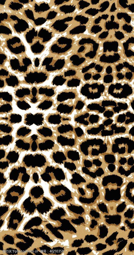 迷彩豹纹数码印花图片