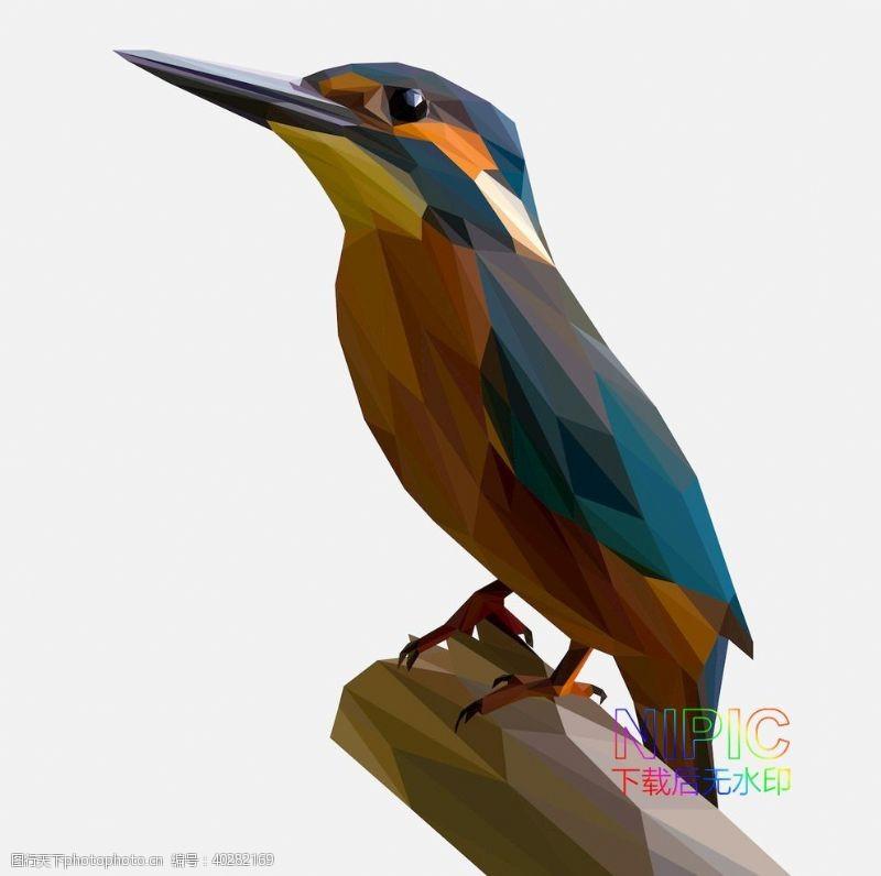 矢量背景背景图素材鸟图片低面模版矢量