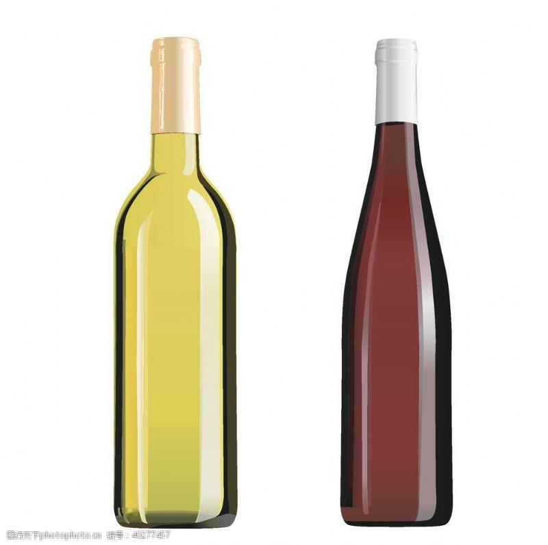 红酒玻璃瓶矢量图图片