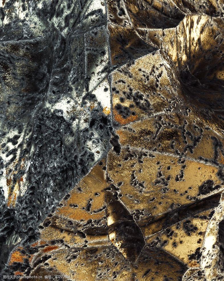 抽象背景C4D模型金属表面抽象图片