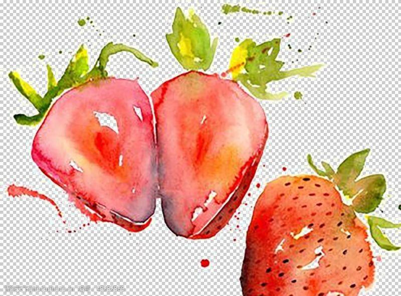 奶油草莓图片