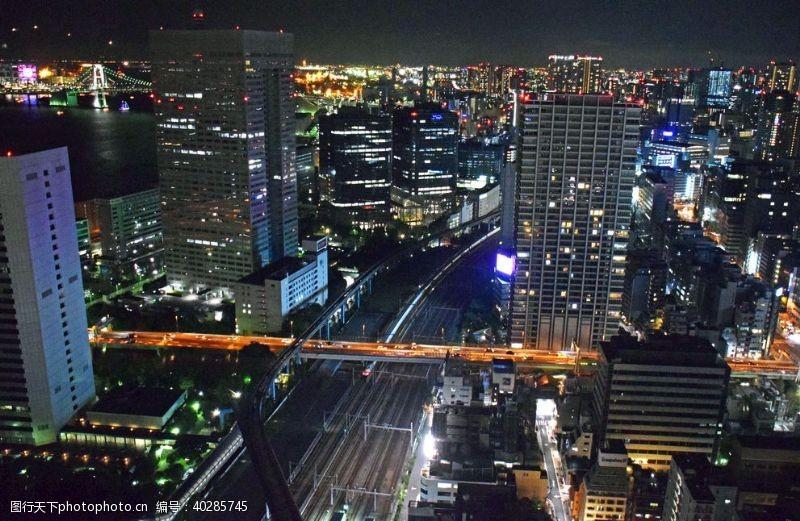 旅游城市城市夜景图片