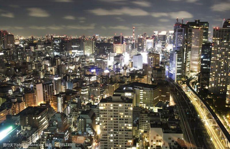 夜晚城市夜景图片