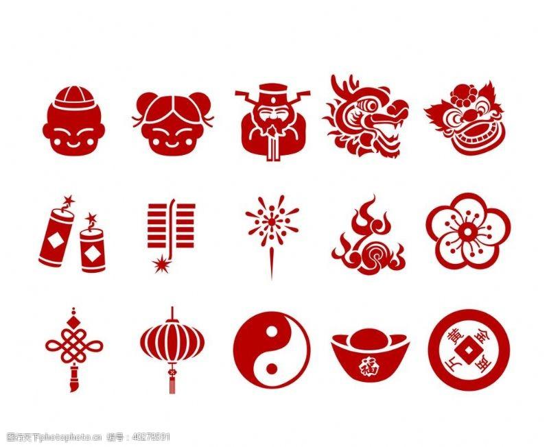 中国结春节矢量元素图片