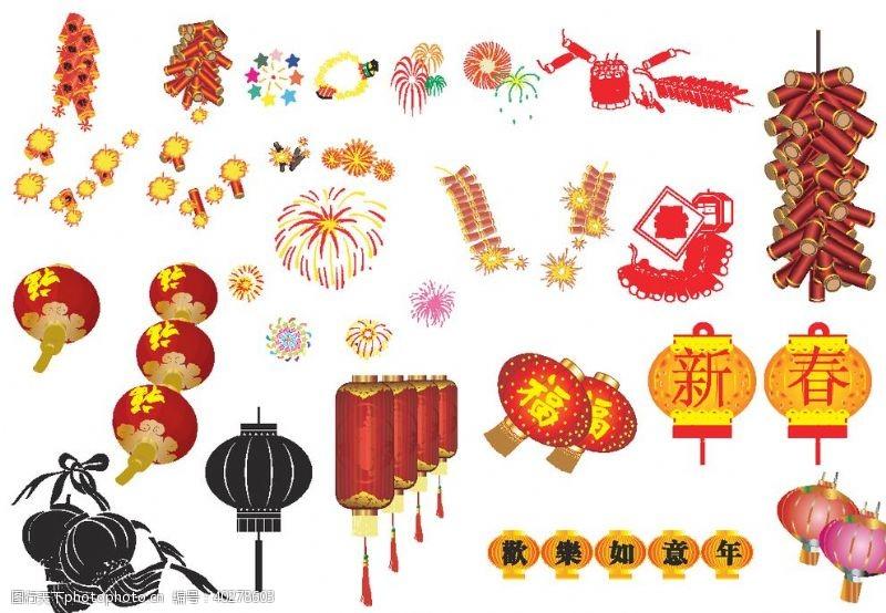 中秋节春节素材图片