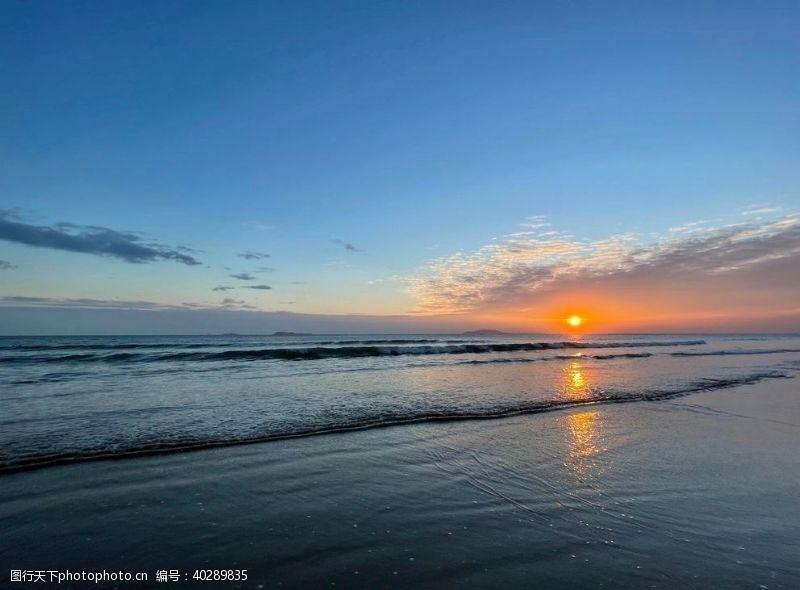 日落大海落日景象图片