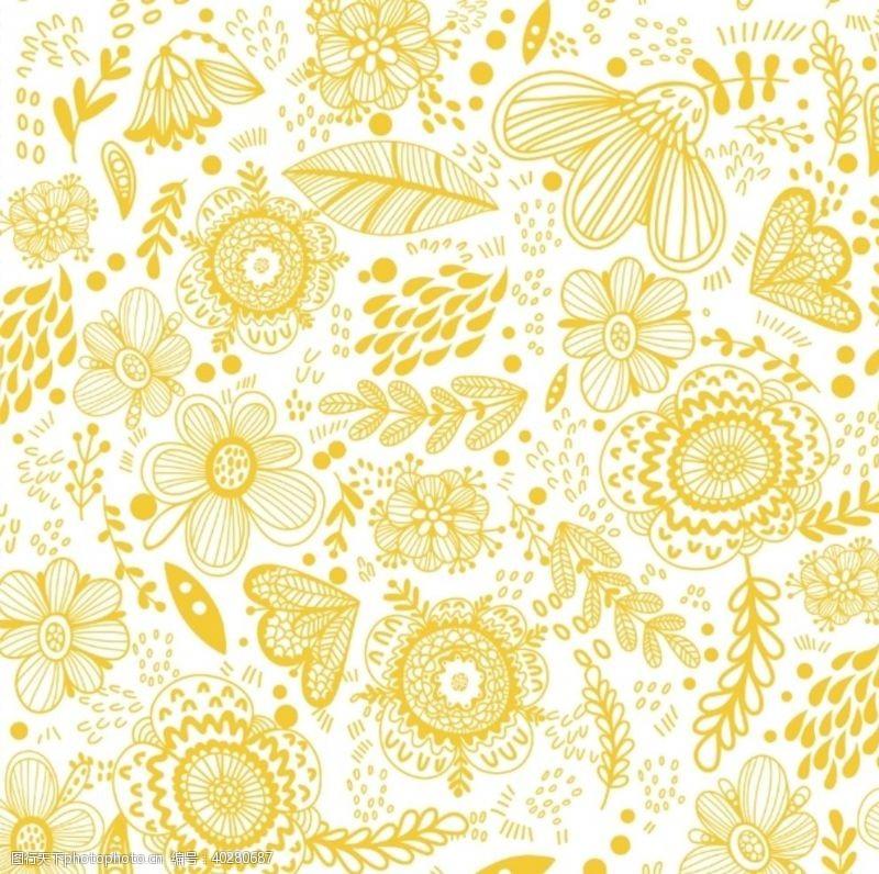 花布底纹花纹图片