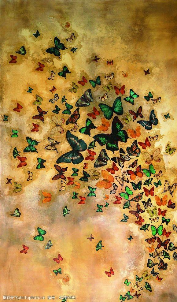 复古蝴蝶图片