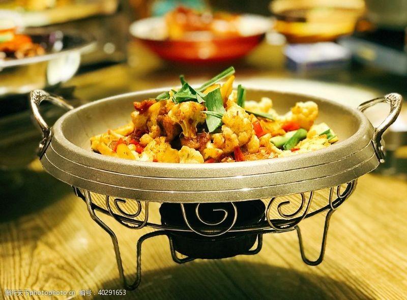 香菜干锅花菜图片