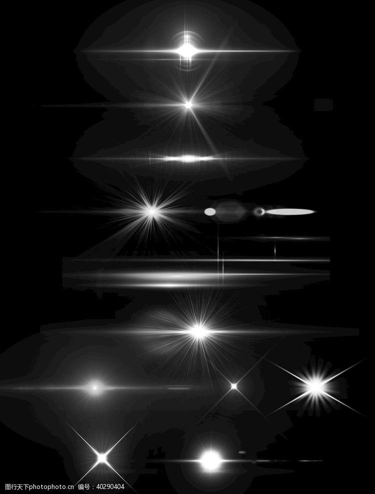 灯光光效星光白色点光图片