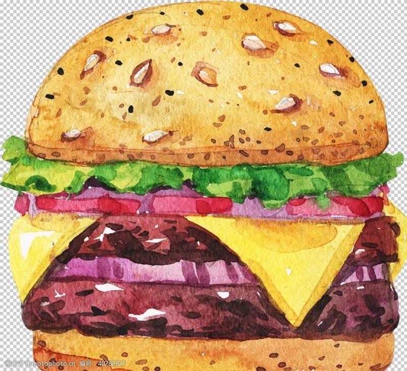 鸡肉汉堡包图片