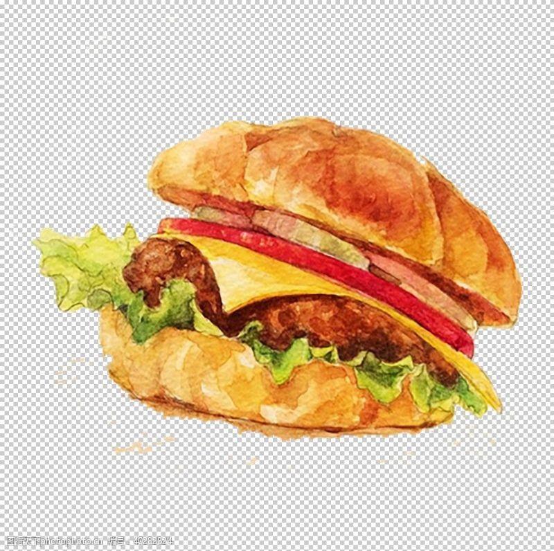 面包片汉堡包图片