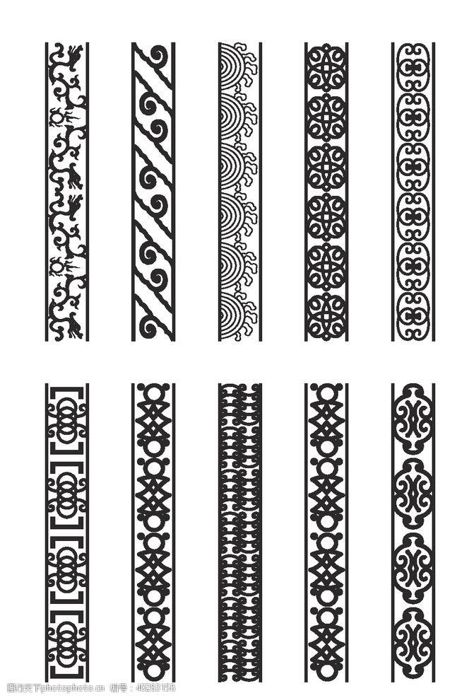 古典花纹黑色蕾丝花纹图片