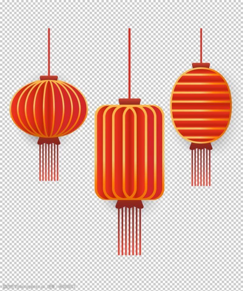 孔明灯图案红灯笼图片