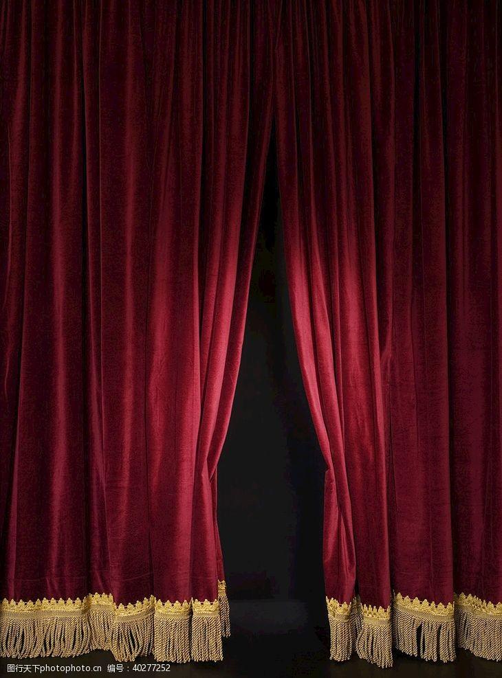 开幕红色舞台幕布图片