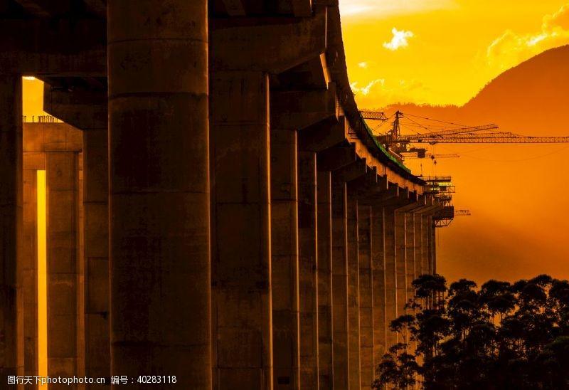 建筑景观红石山大桥图片