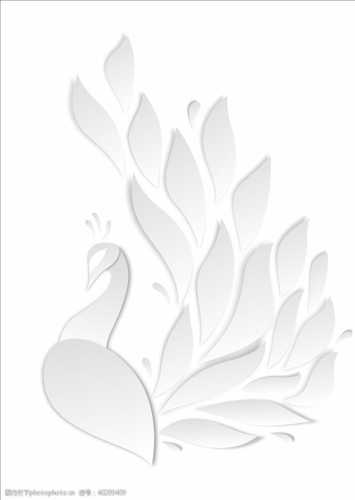 凤凰剪纸孔雀图片