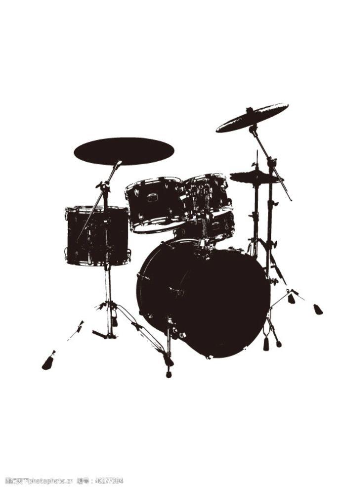 乐器架子鼓剪影图片