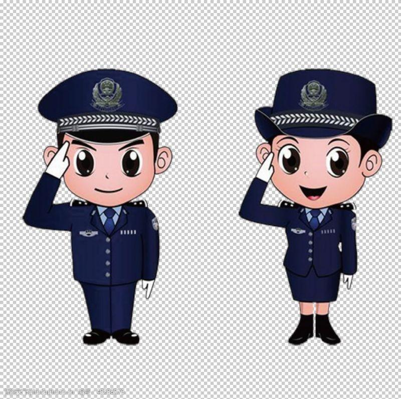 温馨提示警服图片
