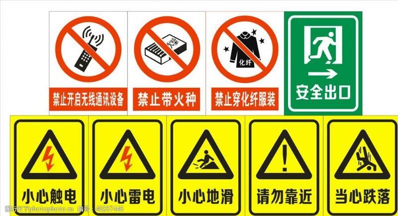 无线警示标志标识标牌图片