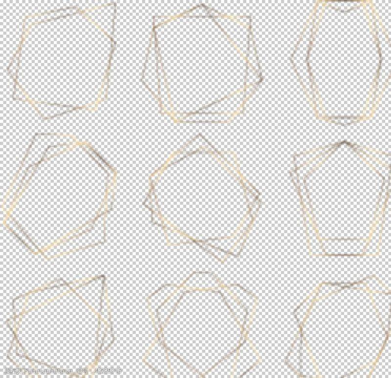 28dpi金属质感不规则边框图片
