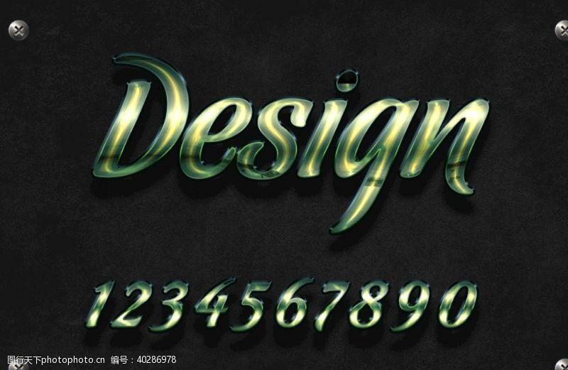 立体字金属字体效果字体图片