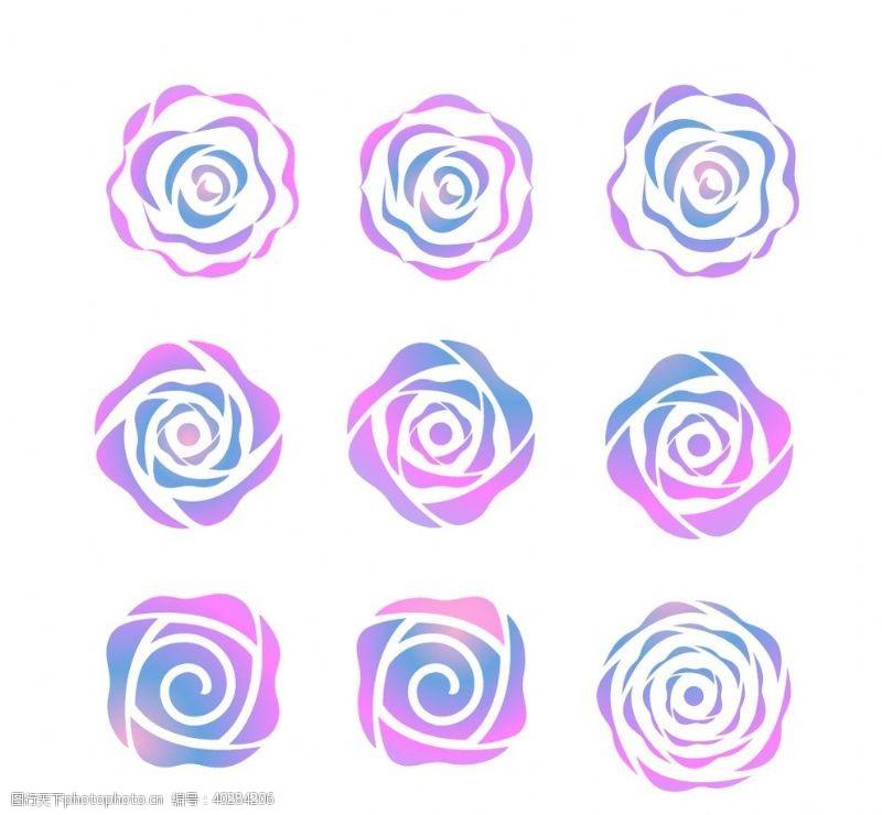 炫彩玫瑰花图片
