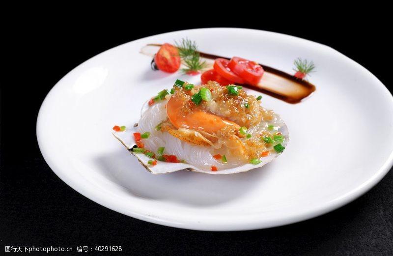食物美食海鲜扇贝图片