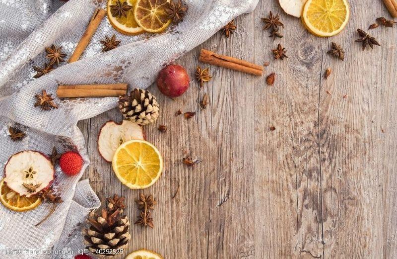 材料美食节日木板背景图片