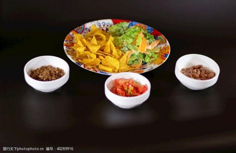 小玉米墨西哥玉米片沙拉图片