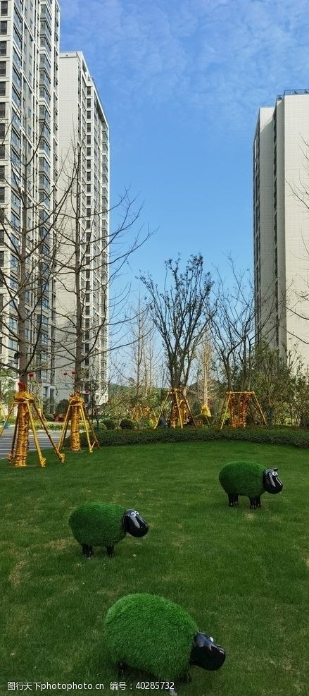 南京远洋万和四季草坪景观图片