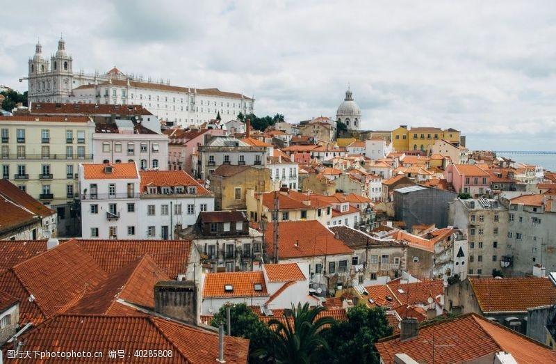 地标欧洲小镇摄影图片
