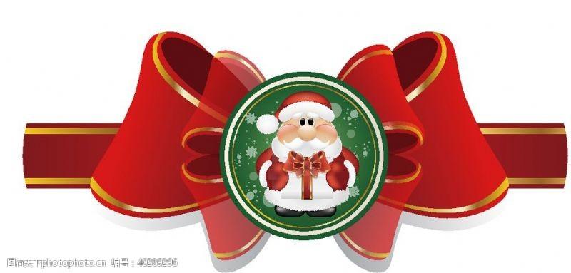 圣诞蝴蝶结图片