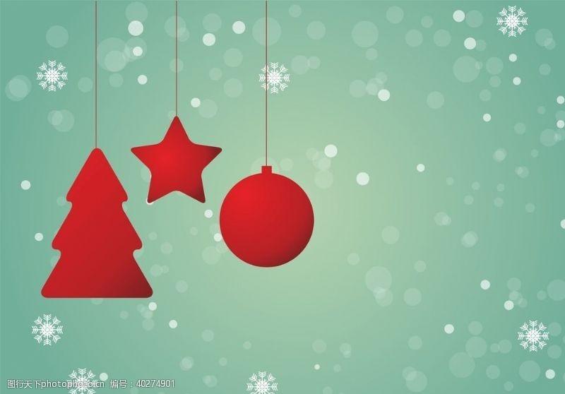 圣诞装饰圣诞庆祝背景图片