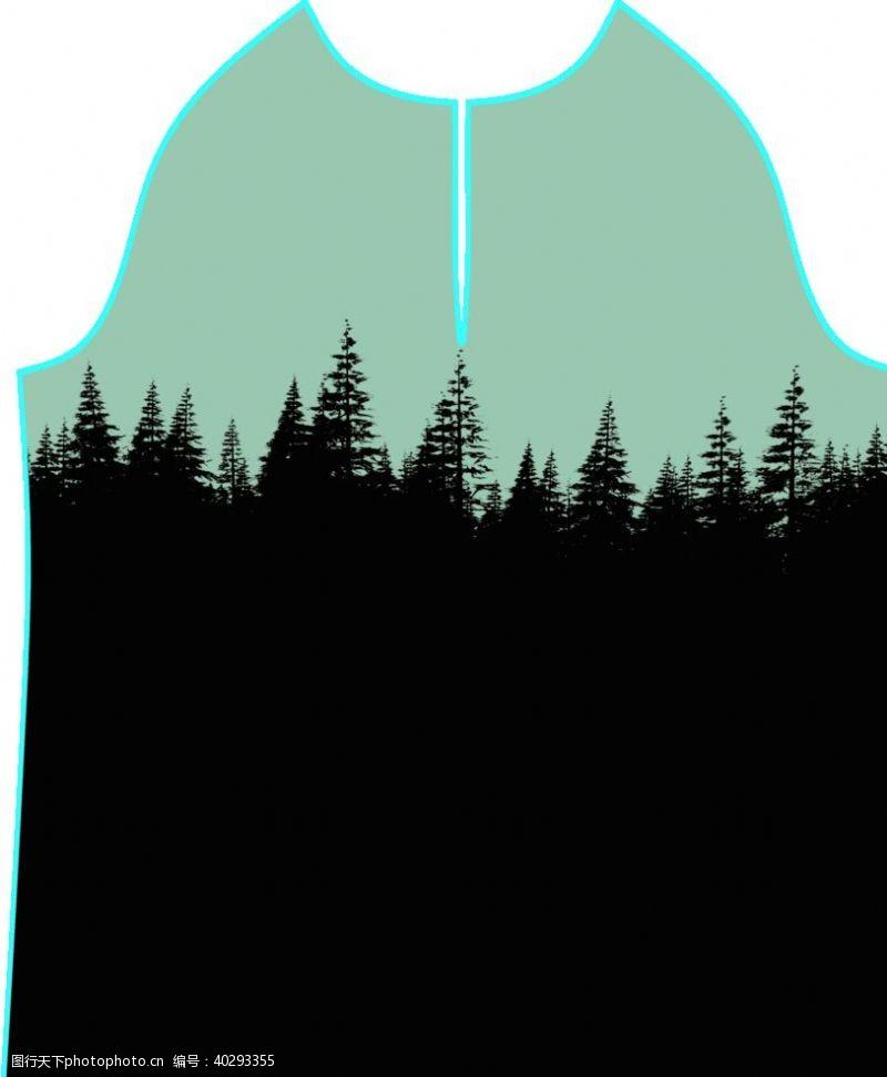 圣诞树数码印花图片