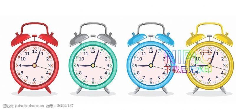 简笔画时间卡通钟表秒表时钟格式模板图片