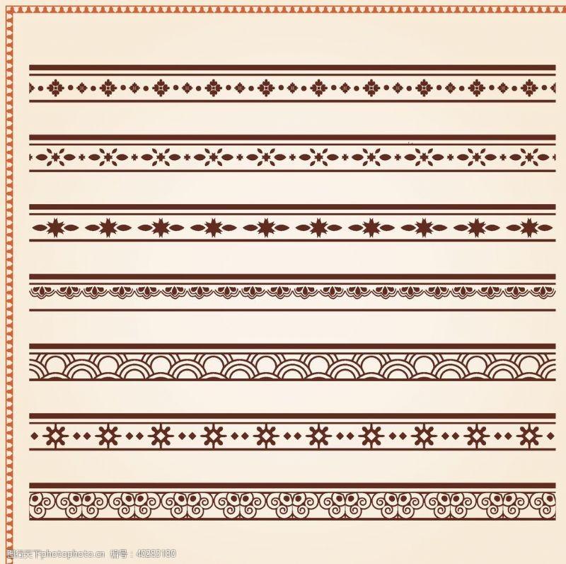 怀旧的矢量复古花纹边框图片
