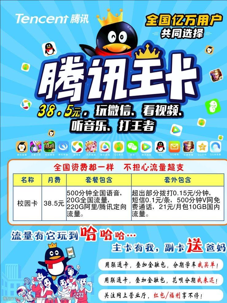 联通腾讯王卡图片