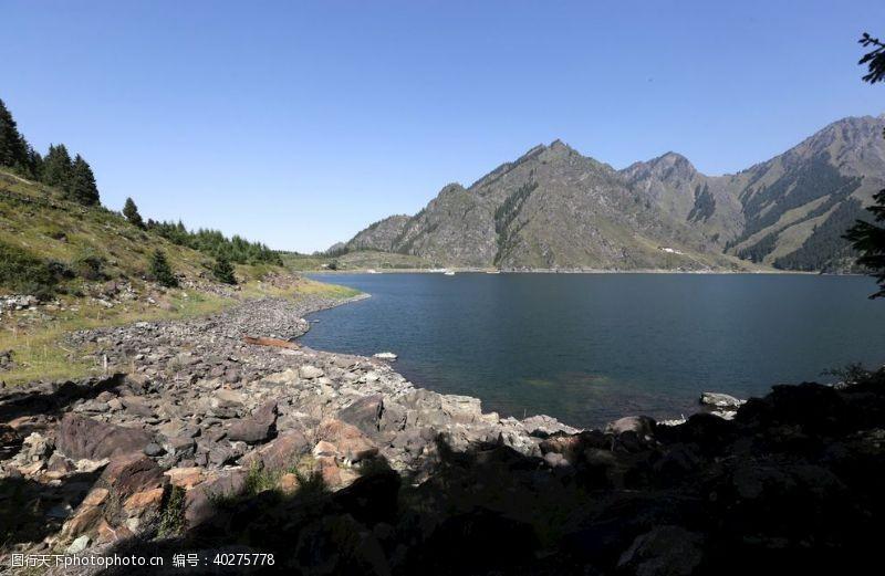 风景名胜天山天池图片